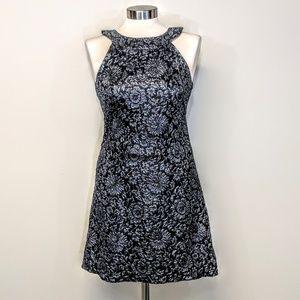 ABS Allen Schwartz Metallic Jaquard Dress